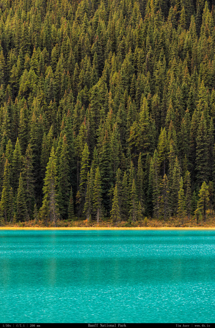 The blue of the Canadian Rockies...